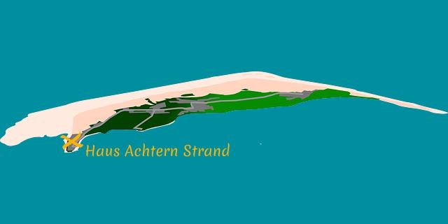 Lage Haus Achtern Strand in Wittdün auf Amrum